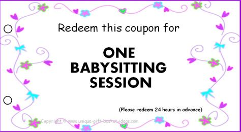 babysitting coupon examples psd ai indesign examples