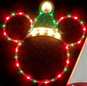 DISNEY SANTA MICKEY MOUSE EARS LIGHTED CHRISTMAS