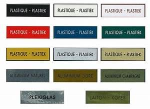 Plaque Pour Boite Aux Lettres : plaquettes grav es plaques sublim es chez copy systems ~ Dailycaller-alerts.com Idées de Décoration
