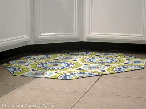 corner sink floor mat diy fabric floor cloth floor mat east coast creative blog