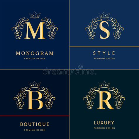 monogram design elements graceful template elegant  art logo design letter