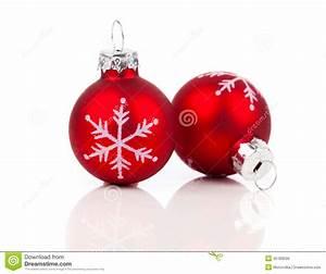 Photo Deco Noel : deux boules rouges de d coration de no l photo stock ~ Zukunftsfamilie.com Idées de Décoration