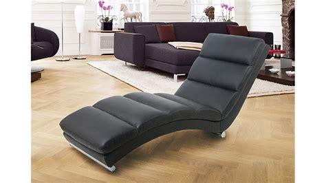 relaxliege mit schlaffunktion relaxliege fox chaiselongue liege in schwarz und chrom