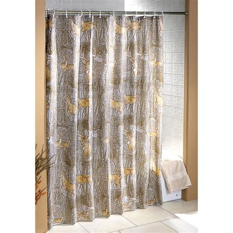 whitetail deer shower curtain with rings 136607 bath at