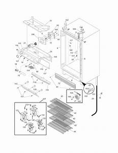 Cabinet Diagram  U0026 Parts List For Model Fcrs201rfb5 Frigidaire