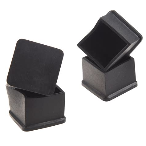 15pcs black rubber 30mmx30mm square chair foot cover chair