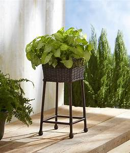 Ty, Pennington, Style, Square, Wicker, Plant, Stand
