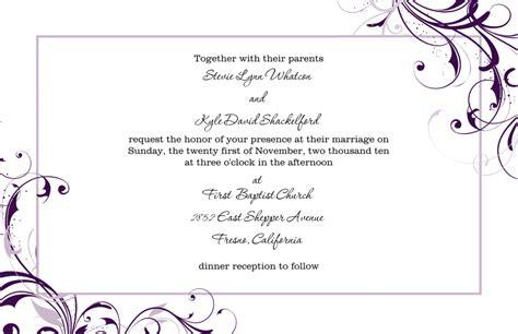wedding invitation templates excel  formats