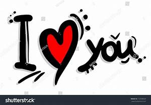 Love You Art Stock Vector 112558529 - Shutterstock