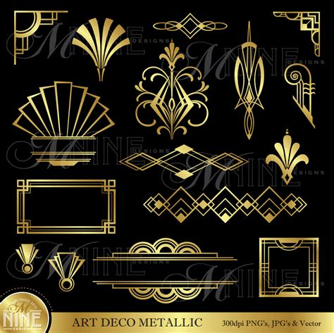 deco graphics free deco clip gold deco accents design