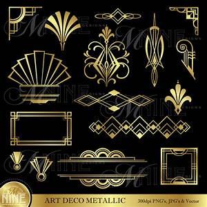 Papier Peint Art Deco : art deco clip art gold art deco accents design ~ Dailycaller-alerts.com Idées de Décoration