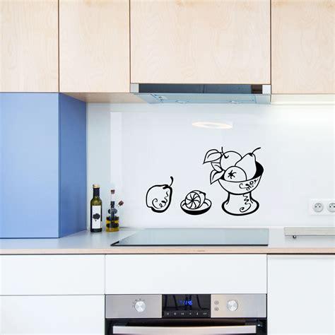 stickers pour la cuisine stickers muraux pour la cuisine sticker fruits et bol