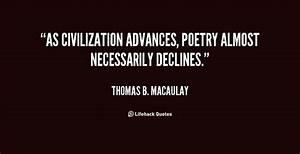 Civilization Qu... Macaulay Thomas Quotes