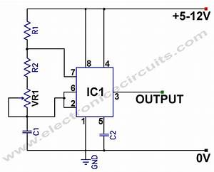 555 variable frequency square wave generator circuit With 50hz accurate oscillator circuit schematic diagram wiring diagram