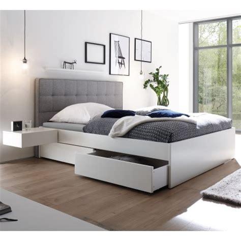 Hasena Bettkastenbett Buche Weiß Deckend Massivholz Bett