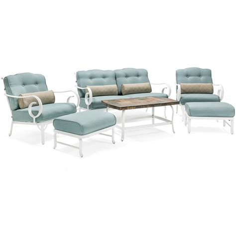 hanover oceana 6 patio seating set with a top