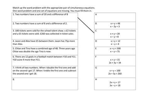 linear simultaneous equations gcse mathematics 9 1 by