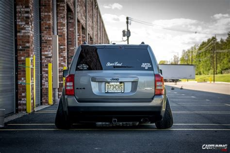 stanced jeep wrangler stanced jeep patriot rear view
