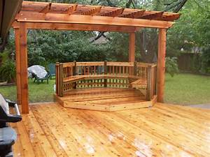 Deck: Stunning Ground Level Deck Plans For Inspiring