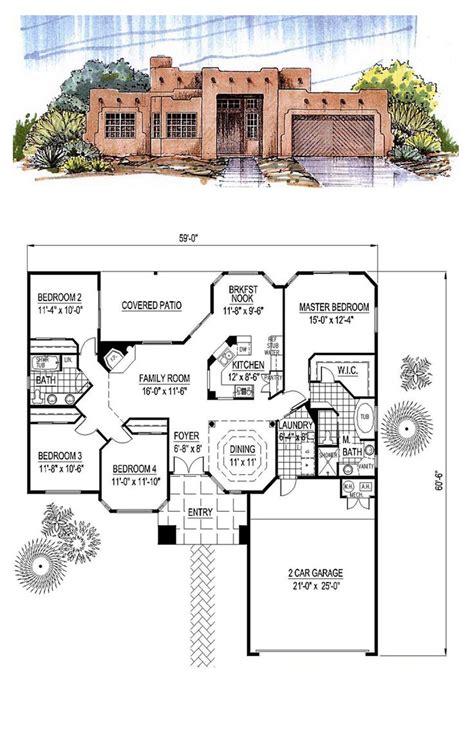 images santa fe house plans pinterest front courtyard house plans square