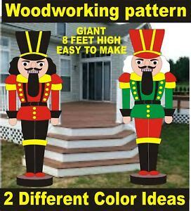 giant nutcracker  feethigh christmas woodworking pattern
