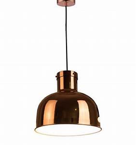 Suspension Filaire Cuivre : suspension design cuivre cloche int rieur blanc okla ~ Teatrodelosmanantiales.com Idées de Décoration
