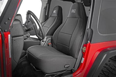 black neoprene seat cover set    jeep wrangler tj