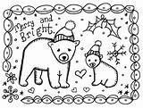 Christmas Coloring Cards sketch template