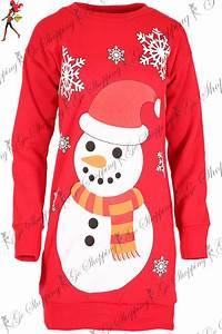 femme noel sweat shirt femmes noel bonhomme de neige robe With robe pull de noel
