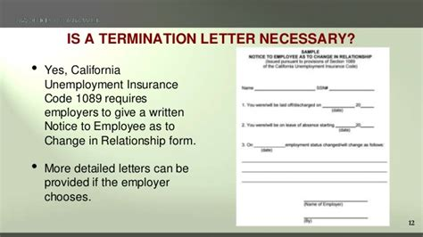 Sections 2626, 2627 and 2708, unemployment insurance code. Terminating Employees in California