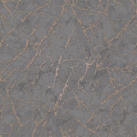 fine decor marblesque grey  rose gold metallic