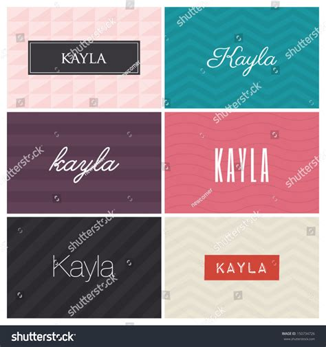 kayla graphic design elements stock vector