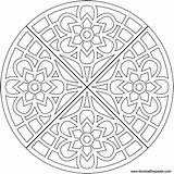 Waffle Coloring Flower Transparent Mandala Eat Pages Adult Adults Blank Colouring Flowers Format Version Paste Don sketch template