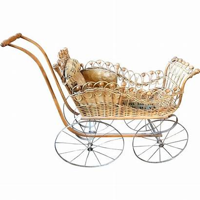 Carriage Antique Wicker Doll Stroller Museum Rubylane