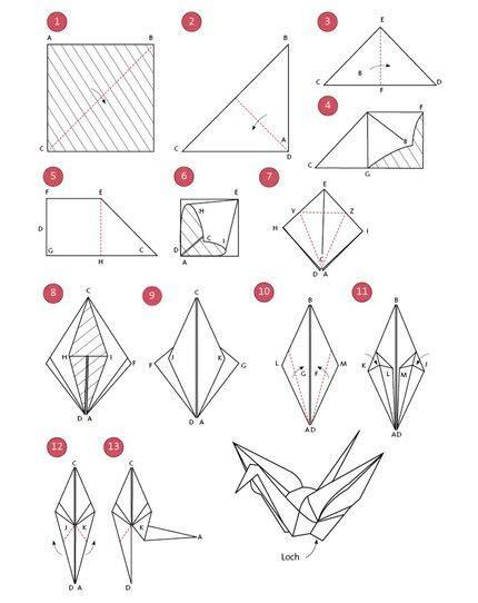 die besten 25 kranich ideen auf origami