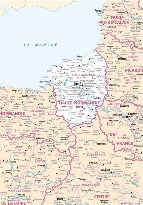 Carte Haute Normandie by Carte De La Haute Normandie Plusieurs Carte De La R 233 Gion