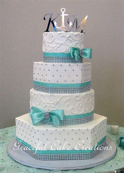 elegant mixed shape white butter cream wedding cake