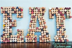 wine cork letters daily dose of style With how to make wine cork letters