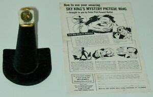 Sky King Mystery Picture Ring Secret Compartment Wax Seal ...