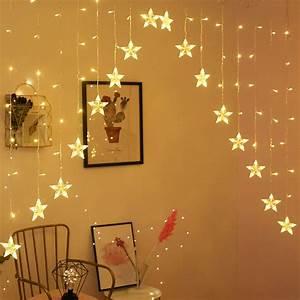 Star, Curtain, Lights, 16, Stars, Lights, Window, String, Lights, Plug, In, Curtain, String
