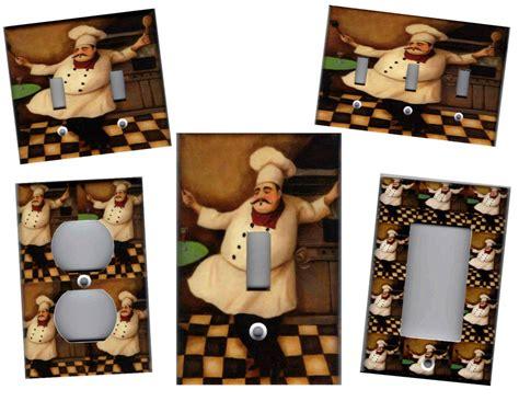 fat chef kitchen home decor light switch plate ebay