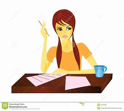 Travailleuse Working Woman Active Clipart Une