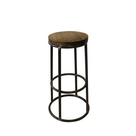 tabouret de bar aluminium tabouret de bar indus bois m 233 tal fredo par drawer fr