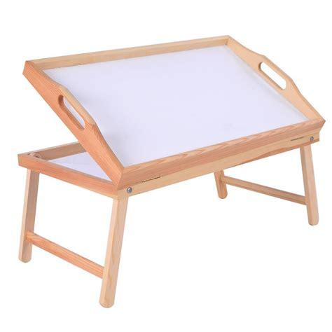 folding lap tray table wood bed folding legs tray breakfast laptop desk food