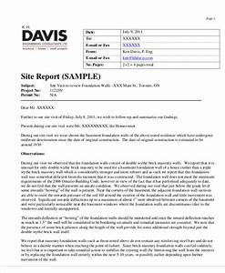 14 visit report templates free word pdf doc format With construction site visit report template