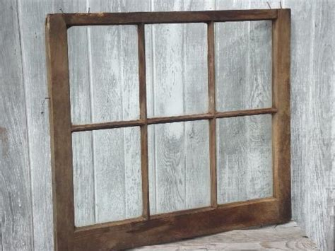 Primitive Antique Wood Window Frame From Old Wisconsin