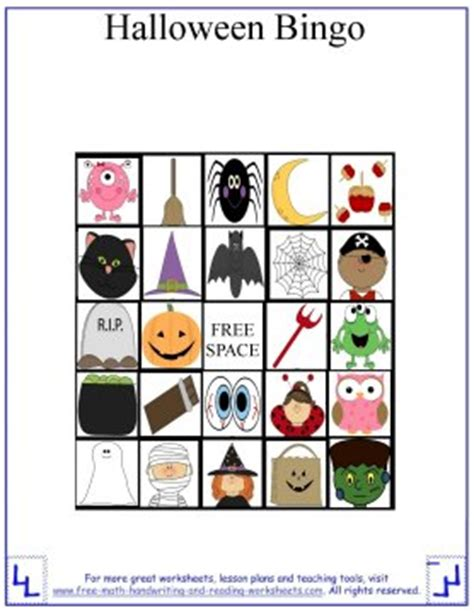 halloween games  kids printable halloween bingo cards