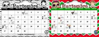 Bonito y útil calendario del mes noviembre | Material ...