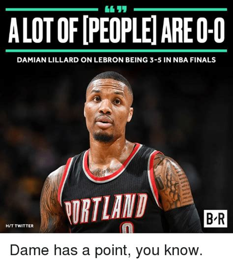 Lebron Finals Meme - damian lillard on lebron being 3 5 in nba finals br hit twitter dame has a point you know