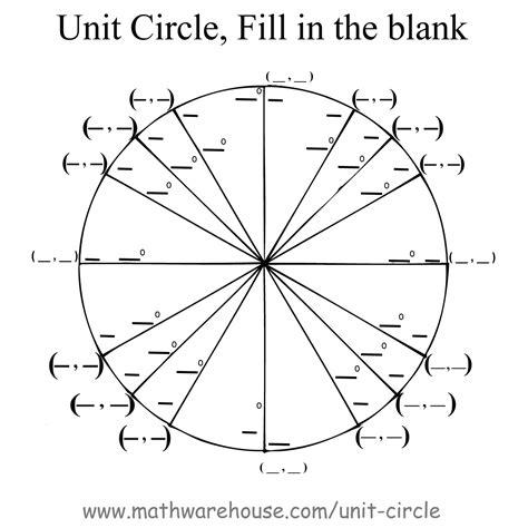 Worksheet Unit Circle Worksheet Worksheet Fun Worksheet Study Site
